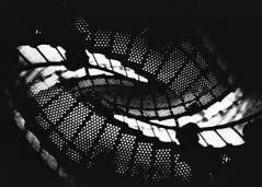 (mikehip) Tags: people lighthouse fall film metal stairs 35mm dark holga nikon exposure kodak north double carolina inside outer banks obx