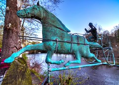 Metal Horse (a2roland) Tags: camera new blue trees red sculpture horse green mill nature water metal museum river lens landscape photo italian nikon aqua flickr carriage ride angle legs pics decorative background branches rustic wide nj picture cyan tokina turquiose ornament pony rusted jersey hanging nickel decor buggy rider ultra corrosion stallion flicker corroded reign eroded oxide cadmium ferric normanzeba2rolandyahoocoma2roland