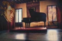 Mallorca -  Valdemosa - Chopin y George Sand (COLINA PACO) Tags: music photomanipulation photoshop spain piano chopin mallorca inlove spagna valldemossa amoureux georgesand enamorados msicos fotomanipulacin maiorca valdemosa