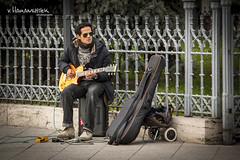 Street performer in Budapest (v.Haramustek) Tags: street boy music playing guy love glasses guitar budapest promenade lp entertainer performer gibson lespaul guitarplayer earning dandube