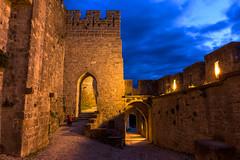 Murallas de Carcasona. (David Andrade 77) Tags: france cit bluehour francia carcassonne mediaval murallas carcasona horaazul