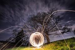 Light Ball Lightpainting (Dennis Kirstein) Tags: light lightpainting wool nature night stars exposure steel