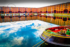 Albert OTT (stephenbryan825) Tags: reflection water liverpool boats details calm albertdock vessels selects