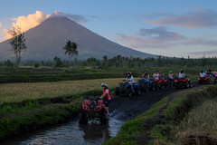 ATV riders. Mt Mayon (Laura Jacobsen) Tags: volcano philippines mayon bicol luzon mtmayon legaspi legazpi bicolandia mayonvolcano