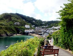 Rest Awhile & Admire The View (anshanjohn) Tags: walking cornwall polperro summer2012