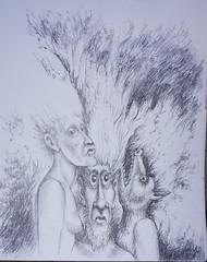 Jungle In-counter (Tom McKee / Art Guy) Tags: art pencil drawing surrealism surreal surrealist narrative lowbrow narrativeart