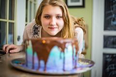 Cake in Waiting - Jason Bihler Photography (Jason Bihler Photography) Tags: birthday party food cooking girl face cake canon dof chocolate indoor coloring layer anticipation platter offcameraflash 5dmarkiii