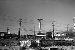 Space Needle (Bob Butterfield Photography) Tags: seattle leica trix pikeplace m3