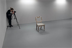 The sitter. (Alan_Brown) Tags: artgallery sunderland emptychair ngca fujix20