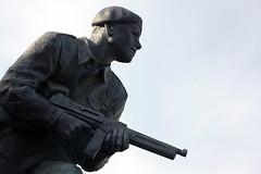 Royal Marines Commando Memorial (Ray Crabb) Tags: mono memorial ww2 marines commando rm 2014 royalmarines ctcrm bootneck