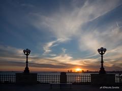 Tramonto sulla rotonda (NIKOZAR (Nicola Zaratta)) Tags: sunset europa italia tramonto rotonda olympus lungomare puglia taranto mzuiko14150 olympusomdem10 em1o
