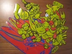 stickers MC1984 (mc1984) Tags: red rabbit yellow fuck stickers chou mc1984