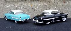 1953 & 1954 Chevrolet Bel Air Hardtop Sport Coupes (JCarnutz) Tags: chevrolet belair 1954 1953 diecast franklinmint 124scale jadatoys
