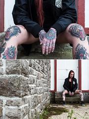 ... (la.churri) Tags: color mujer nikon gente retrato asturias carol musa pelirroja blessed tatuajes 2016 diptico d90 nikkor50mm