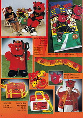 Manchester United - Official Merchandise Catalogue - 1994 - Page 28 (The Sky Strikers) Tags: old red classic manchester souvenirs official united fred merchandise 1994 collectors trafford catalogue the leisurewear