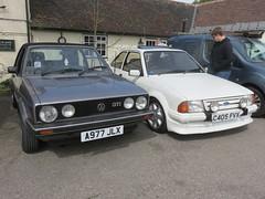 IMG_9785 (andrewlane94) Tags: classic ford vw vintage golf volkswagen goat convertible retro turbo german british gti rs escort mk3 hertfordheath mk1