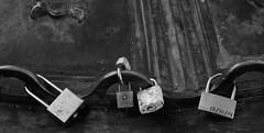 los candados del amor (DannyDuvel) Tags: madrid espaa love blackwhite spain amor plazamayor blanconegro candados
