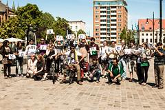 (kamranonbike) Tags: germany europe maya kamran rostock ontour 1stday neuermarkt 2011 tourstart