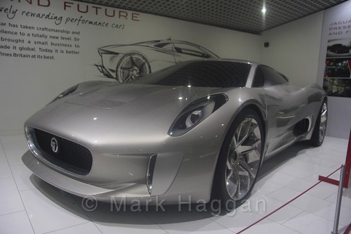 A Jaguar concept car at Coventry Transport Museum