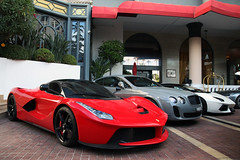 Ferrari LaFerrari & Bentley Continental GT Supersport & Lamborghini Aventador LP700-4 Roadster (R_Simmerman Photography) Tags: red summer white france cars grey hotel boulevard harbour cannes garage parking continental ferrari arab saudi arabia gt lamborghini rare exclusive bentley qatar valet combo roadster supersport 2014 laferrari aventador lp7004