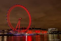 London Eye & County Hall in Red. (Splendid What) Tags: red sky london thames night canon nightshot londoneye riverthames countyhall stthomashospital