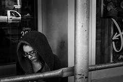 Texting (Jared Chernick) Tags: street blackandwhite newyork manhatten