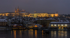 Praga (pelayoavs) Tags: winter snow castle night noche san cathedral nieve catedral praha praga invierno kafka castillo vito strana mal