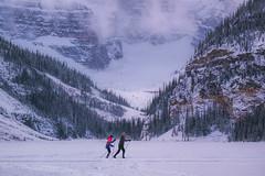 Just breath (hey ~ it's me lea) Tags: winter snow mountains alberta lakelouise banffnationalpark skiers 5252