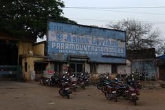 Garage in Jeypore, Orissa (sensaos) Tags: street trip travel urban india asia decay garage culture motorcycles tribal advertisement tribe orissa automobiles ashok cultural paramount indigenous leyland ashokleyland 2013 odisha sensaos