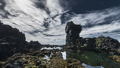 Near Djpalnssandur, Iceland - D8C_8946 (Viggo Johansen) Tags: ocean sea sky green water clouds coast iceland rocks shorline djpalnssandur