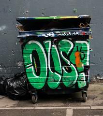 Leake Street (cocabeenslinky) Tags: street city uk england urban streetart green london art writing lumix graffiti garbage paint artist photos south united capital kingdom tunnel can spray bin east panasonic litter waterloo writer graff february leake oust se1 artiste 2016 dmcg6 cocabeenslinky