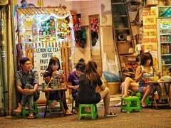 Ho Chi Minh through my lens (-Faisal Aljunied - !!) Tags: dinner vietnamese streetphotography vietnam drinks tables stools saigon hochiminh olympus75mm18 olympusomdem1 faisalaljunied