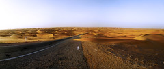 Route au milieu du sable (habib kaki 2) Tags: sahara desert dunes sable route algerie     adrar   timimoune debagh   tinerkouk  zaouiet