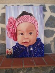 SOFIA (paraisoalicantino) Tags: color familia azul amor rosa vida sonrisa nia infancia belleza calor grandeza preciosidad pompon nieta ternura cario