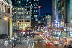 Gastown at Night (jennchanphotography) Tags: street city nightphotography travel light canada tourism night vancouver downtown bc trails landmark lighttrails iconic vancity jennchanphotography