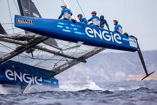 """Los """"barcos voladores"""" llegan a la Copa del Rey MAPFRE/The """"flying catamarans"""" reach the Copa del Rey MAPFRE"""
