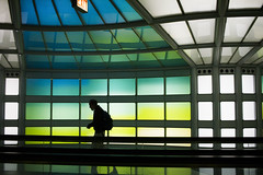 o hare (Bobby (shoot) MacRae) Tags: street shadow colour reflection architecture vibrant sillouette