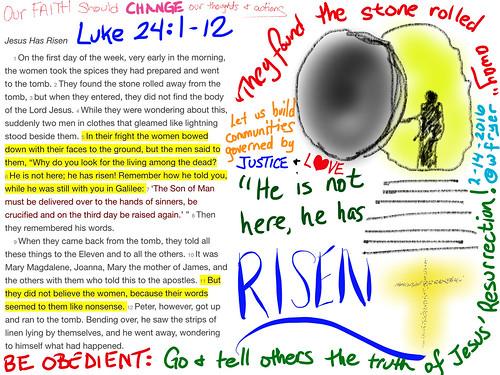 Luke 24-1-12 Sermon Sketchnote by Wesley Fryer, on Flickr