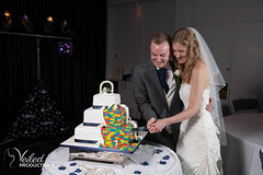 An incredible lego wedding cake. Kat and Oli's wedding day - photography and videography by Veiled Productions - wedding photography and videography Cambridgeshire
