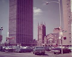 Vintage Found Photo - Downtown Houston, Texas (Mark 2400) Tags: church found photo downtown texas united houston first methodist 1972