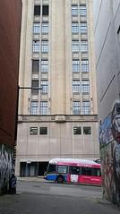butterfly (SqueakyMarmot) Tags: vancouver alley downtown murals transit translink richardsstreet trolleybus backlane