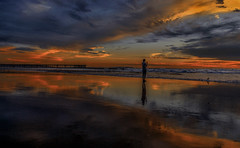 Reflect On The Present [EXPLORE: 1/30/16] (Wilkof Photography) Tags: ocean california ca venice winter sunset shadow sea vacation seascape reflection beach nature wet water silhouette skyline canon dark lens landscape mirror evening pier daylight seaside sand colorful skies afternoon waterfront sundown cloudy outdoor dusk horizon perspective overcast panoramic explore pacificocean reflect venicebeach serene sunlit today picturesque cloudcover beachfront cpl 18mm oceanfront oceanscape t4i canont4i wilkof