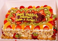 M Cerem001 (kauonetwo) Tags: life usa love fruits cake tampa colorful affection florida sony happiness yield understanding adjustment weddinganniversary equality sacrifice fifty a57 geotagg amicable
