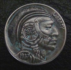 "'The Brave Knight' Hobo nickel/coin carving • <a style=""font-size:0.8em;"" href=""http://www.flickr.com/photos/72528309@N05/24616071636/"" target=""_blank"">View on Flickr</a>"
