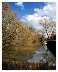 reflections at Barcombe Mills........... (patrick l clinton) Tags: trees water canon reflections explore enjoy mills 70d barcombemills