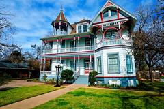 Texas Victorian Home (k4eyv) Tags: texas victorianhouse brenhamtexas fujixe1 rosscarrollbennetthouse