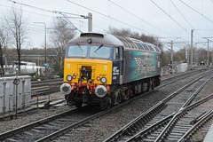 """'20 Years of DRS' Branded Class 57/3, 57307 """"Lady Penelope"""" (37190 """"Dalzell"""") Tags: gm brush northwestern thunderbird revised wigan generalmotors virgintrains ladypenelope geneticallymodified drs 20years bodysnatcher class47 type4 class57 47225 57307 directrailservices class470 class573 d1901 compassswoosh"""