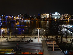 Looking down at the Thames from Level 5 of the Royal Festival Hall (stillunusual) Tags: uk travel portrait england urban reflection london thames night river dark evening boat cityscape candid citylife streetphotography streetlife streetscene riverboat candids riverthames royalfestivalhall humannature urbanlandscape urbanscenery 2016 travelphotography reflectedlight ldn realpeople travelphoto urbanpeople humanbehaviour peoplepictures peopleinthestreet travelphotograph londonstreetphotography candidstreetphotography candidstreetportraiture