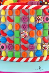 Candy Crush (Little Cottage Cupcakes) Tags: birthday cake candy birthdaycake candies sugarart tiffi candycrush 40thbirthdaycake littlecottagecupcakes candycrushcake