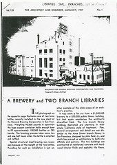 A Brewery and Two Branch Libraries; 1937 1 of 3 (San Francisco Public Library Branch Archives) Tags: sanfrancisco 1937 westportalbranchlibrary